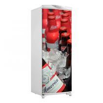 Adesivo Geladeira Envelopamento Porta Budweiser No Gelo 2 - 180x65cm - Sunset Shop