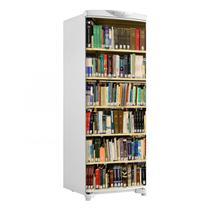 Adesivo Geladeira Envelopamento Porta Prateleira Livros 3 - 180x65cm - Sunset Shop