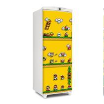 Adesivo Geladeira Envelopamento Porta Super Mario Game 3 - 180x65cm - Sunset Shop