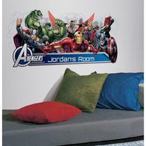 Adesivo Marvel Avengers Assemble - Customização de Cabeceira com Alfabeto -