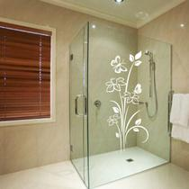 Adesivo para Box de Banheiro Florais Floral 35 Branco - Arte De Colar Adesivos