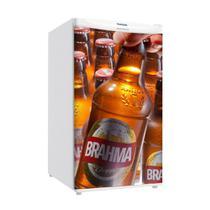 Adesivo Para Envelopamento De Frigobar Brahma Garrafas Porta 90 X 60 cm - Sunset Adesivos