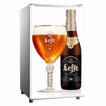 Adesivo Para Envelopamento De Frigobar Garrafa E Taça Cerveja Leffe Porta 90 X 60 cm - Sunset Adesivos