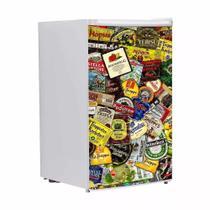 Adesivo Para Envelopamento De Frigobar Rótulos De Cerveja Porta 90 X 60 cm - Sunset Adesivos