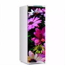 Adesivo Para Envelopamento De Geladeira Porta Flores Cor Lilás 150X60cm - Sunset Adesivos