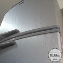 Adesivo para geladeira Escovado Prata 0,50m - Tacolado
