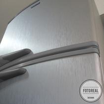 Adesivo para geladeira Escovado Prata 0,61m - Tacolado
