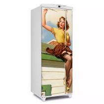 Adesivo Para Geladeira Porta Pin Up Tv Girl - 180x65cm - Sunset Shop