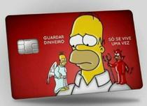 Adesivo Película Skin Cartão De Crédito Debito Simpsons 9130F53 -