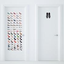 Adesivo Porta Banheiro Ele  Ela Sapatos - Quartinhos