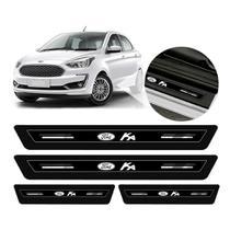 Adesivo Protetor de Soleira Ford ka Preto Platinum - Emblematech