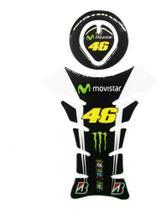 Adesivo Protetor Tanque Moto Resinado Monster Energy+doctor - Wfmotos