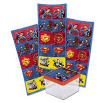 Adesivo Quadrado Superman Geek 03 Cartelas Festcolor - Festabox