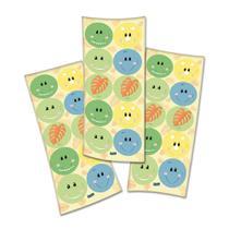 Adesivo Redondo Festa Dino Baby - 30 unidades - Festcolor -