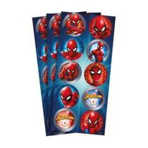 Adesivo Redondo R319 Spider Man Animação C/03 Regina -