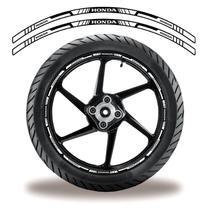 Adesivo Refletivo Friso Roda Moto Honda Branco - Cobra Motoparts
