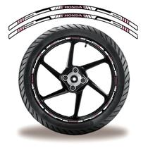 Adesivo Refletivo  Friso Roda Moto Honda Rosa, Lilás - Cobra Motoparts