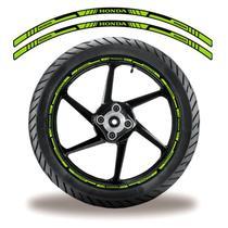 Adesivo Refletivo Friso Roda Moto Honda Verde - Cobra Motoparts