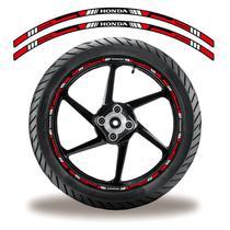 Adesivo Refletivo Friso Roda Moto Honda Vermelho - Cobra Motoparts