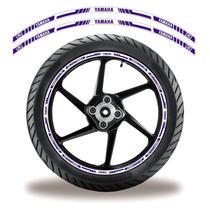 Adesivo Refletivo Friso Roda Moto Yamaha Azul - Cobra Motoparts