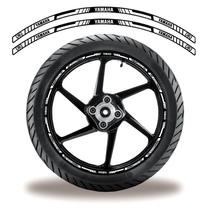 Adesivo Refletivo Friso Roda Moto Yamaha Branco - Cobra Motoparts