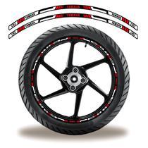 Adesivo Refletivo Friso Roda Moto Yamaha Vermelho - Cobra Motoparts