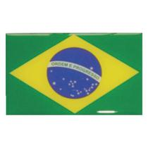 Adesivo Resinado Bandeira do Brasil 5x8 cm - Shekparts