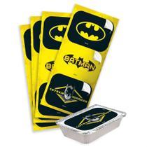 Adesivo Retangular Batman Geek 12 unidades Festcolor - Festabox