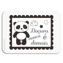 Adesivo Retangular Panda 20 unidades Duster - Festabox