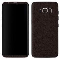 Adesivo Skin Premium - Couro Preto Samsung Galaxy S8 -