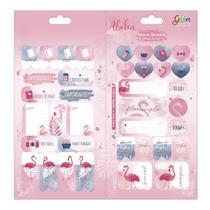 Adesivo Sticker Duplo Grafons Aloha Flamingo - Tilibra
