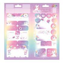 Adesivo Sticker Duplo Grafons Blink Unicornio com 10 Unidades - Tilibra