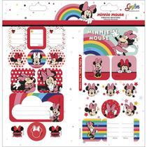 Adesivo Sticker Duplo Grafons Minnie com 10 Cartelas - Tilibra