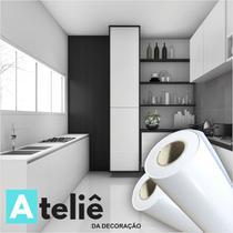 Adesivo vinil brilho para envelopamento de Móveis PVC Branco - Ateliê Da Decoração
