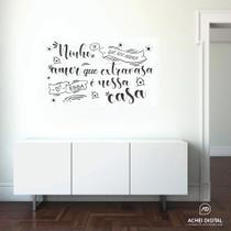 Adesivo Vinil Decorativo Nossa Casa, para parede, móveis, espelho ou vidro. - Achei Digital