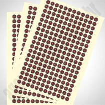 Adesivos 2x2cm  Folha com 216 adesivos - Agência gráfica
