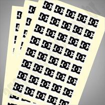 Adesivos 5x5cm  Folha c/ 40 adesivos - Agência gráfica
