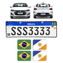 Adesivos Bandeiras Placa Mercosul Brasil Estados Resinados - Sportinox