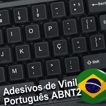 Adesivos Etiquetas p/ Teclado Português Abnt2 Ç Cedilha notebook, pc, macbook (preto,branco) - Adesivos Art