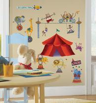 Adesivos para quarto bebê - Importados - RoomMates - Circo -