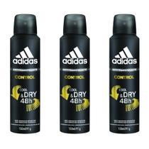 dfff64723 Adidas Control Masculino Desodorante Aerosol 150ml (Kit C/03) -