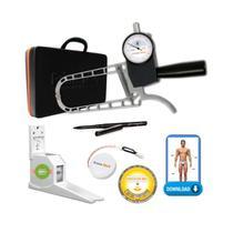 Adipômetro Analógico Científico Opus 30 + Trena + Lápis + Disco de IMC + Software + Estadiômetro - Prime Med