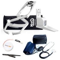 Adipômetro Clínico Neo Prime Prata + Luva + Trena corporal + Lápis de marcação + Software Physical Test + Esfigmo + Estadiômetro - Prime Med