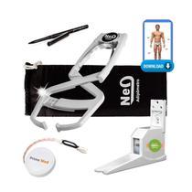 Adipômetro Clínico Neo Prime Prata + Luva + Trena corporal + Lápis de marcação + Software Physical Test + Estadiômetro - Prime Med