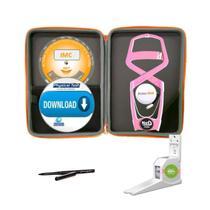 Adipômetro Clínico Neo Prime Rosa + Estojo Luxo + Trena corporal + Lápis de marcação + Disco IMC + Software Physical Test + Estadiômetro - Prime Med