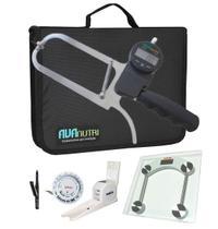 Adipômetro plicômetro ciêntifico digital com estadiômetro e software kit  avaliação física - Avanutri