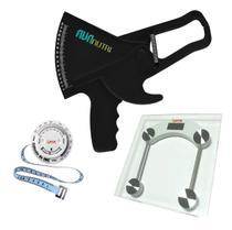 Adipômetro Plicômetro Clínico kit avaliação física com balança  e trena com disco de IMC - Avanutri