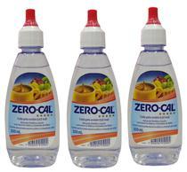 Adoçante Zero Cal 100ml Gotas Kit com 03 unidades -