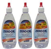 Adoçante Zero Cal 200ml Gotas Kit Com 03 Unidades -