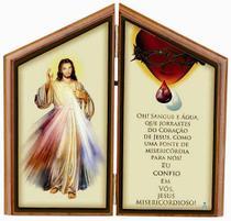 Adorno de mesa de jesus misericordioso com oração - Armazem